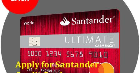 apply for santander credit card cashback limit on 123. Black Bedroom Furniture Sets. Home Design Ideas