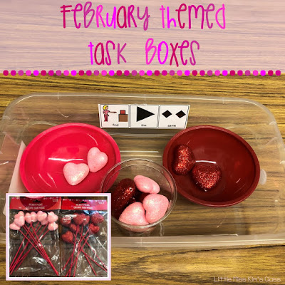 February Task Boxes Special Education