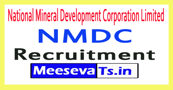 National Mineral Development Corporation Limited NMDC Recruitment 2017