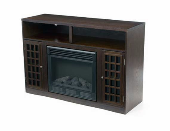 TV Stand with Fireplace picture