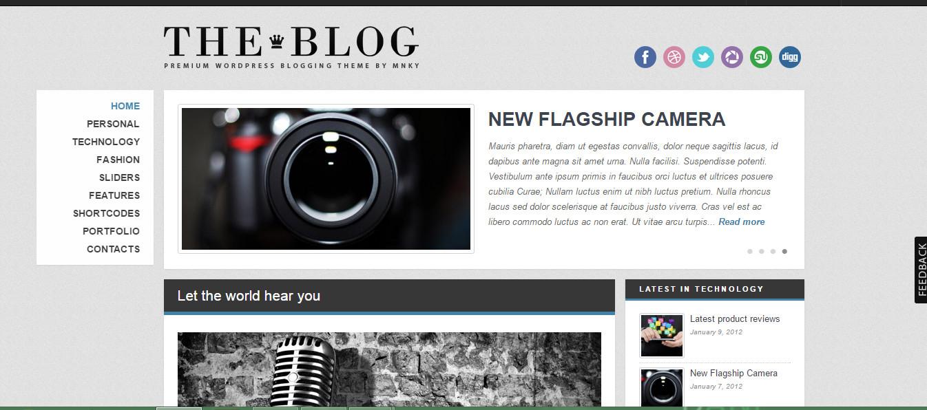 Theblog-Wordpress blog theme responsive