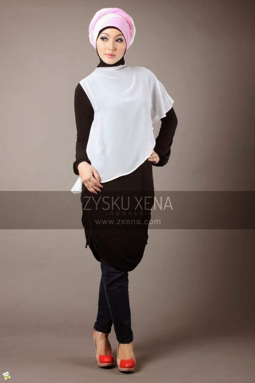 Baju Gamis Hitam Putih