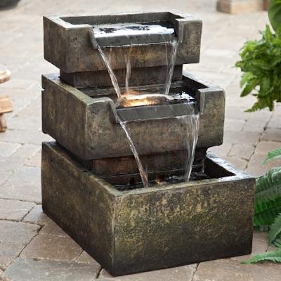 Desain kolam pancuran mini modern