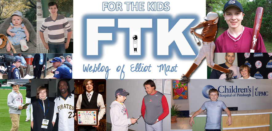 "FTK ""For The Kids!"" Elliot's Baseball Blog"