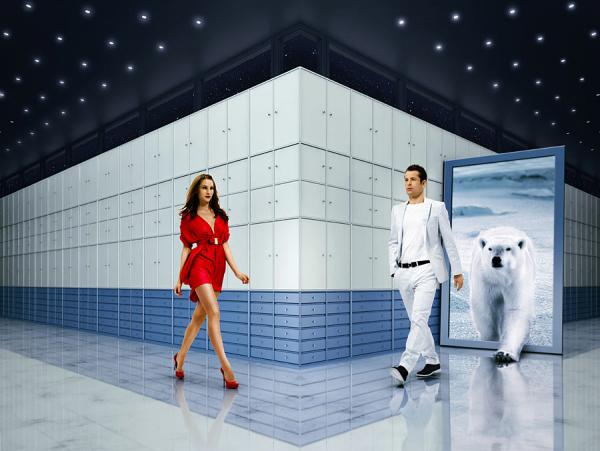 Hombre y mujer fashion