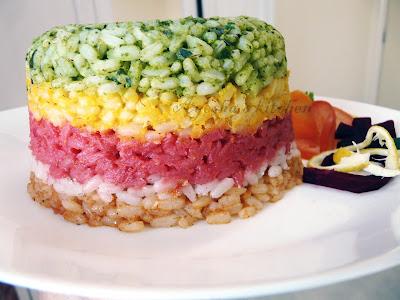 kids special ribbon rice rainbow rice rice recipes yummy special recipes kerala rice