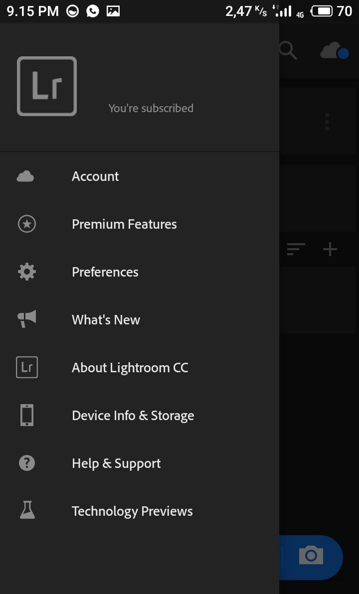 Lightroom Mod Apk premium full preset