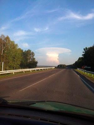 nuclear testing mushroom