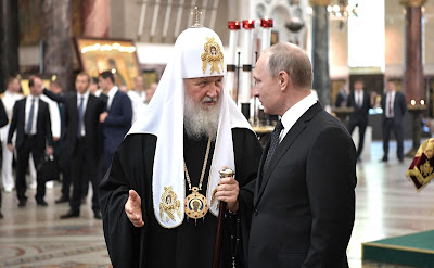 Vladimir Putin visited to the Naval Cathedral of St Nicholas in Kronstadt.