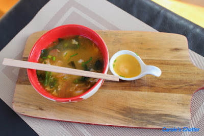 Carole's Chatter: Spicy Japanese Prawn and Bacon Soup