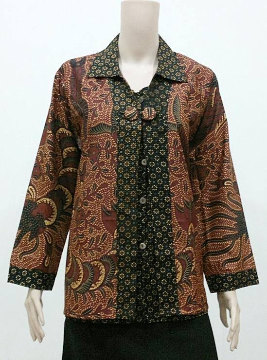 10 Baju Batik Kerja Muslimah Lengan Panjang Terpopuler  Model