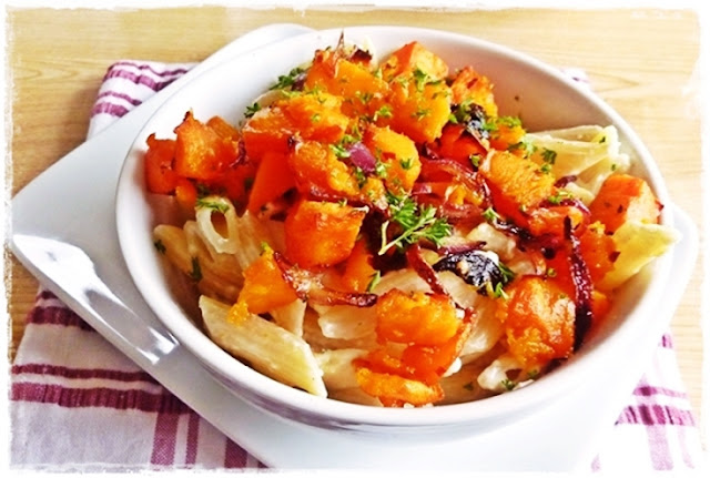 butternut squash roasted with red onion and chilli