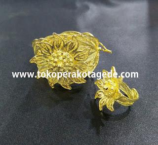 gelang tembaga lapis emas