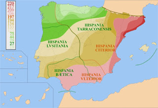 Roman provinces of Hispania by HansenBCN