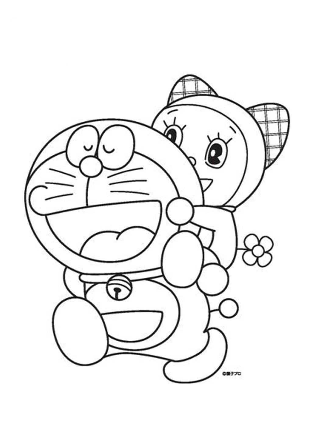 10 Mewarnai Gambar Doraemon
