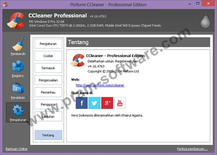Screenshot CCleaner