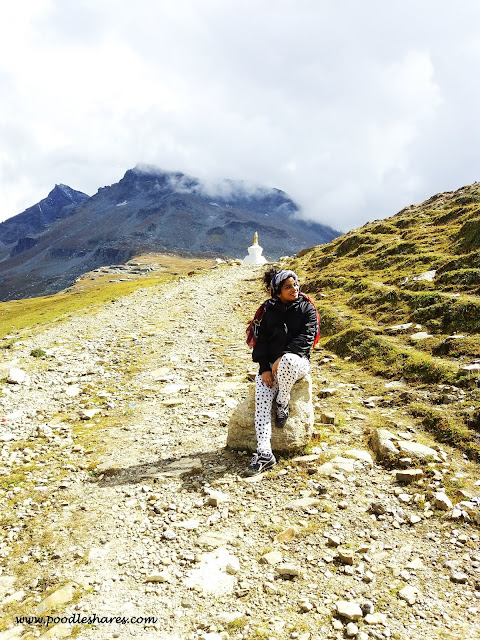 Me at Rohtang-Trip to Manali