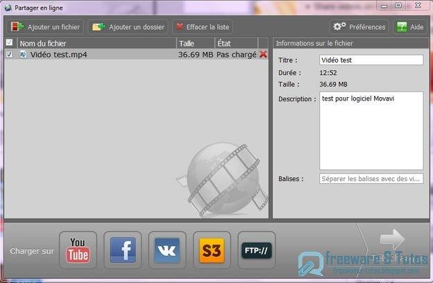 Movavi Share Online : un logiciel gratuit d'upload de vidéos