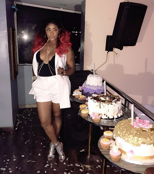 Photos Angela Okorie Put Boobs On Display During Birthday Party At Rumors Night Club In Festac