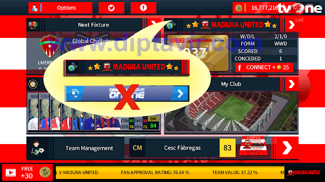Cara Mengganti Tulisan Dream League Online pada Menu Dream League Soccer