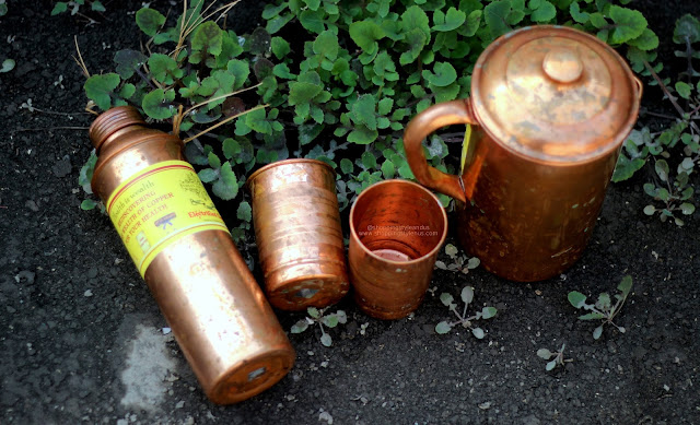 Indian ArtVilla Copper Jug and Glass Set