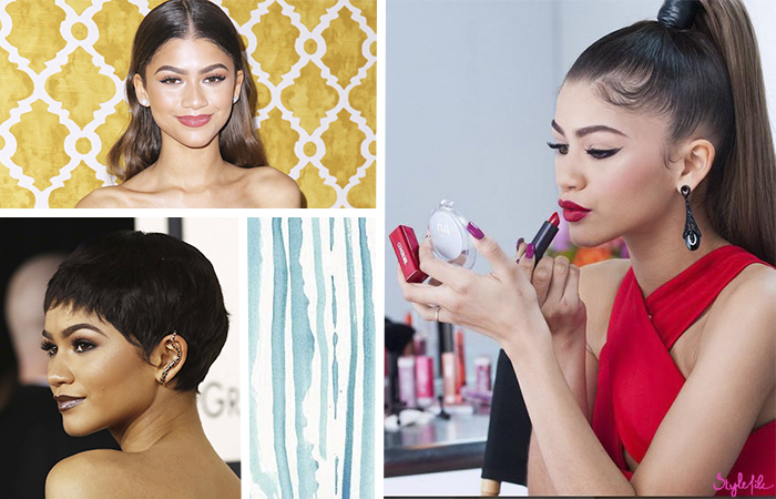 Teen hollywood celebrity Zendaya Coleman looks different in every look with her pixie bobs, bold eyebrows and high ponytail