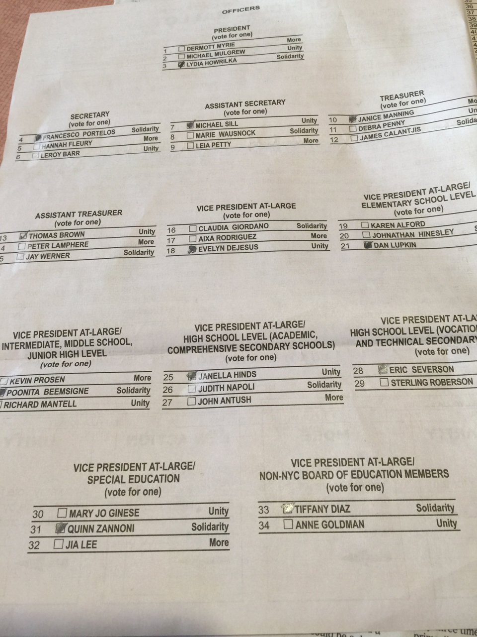 Ed Notes Online: My UFT Election Choices: Duke Breaks