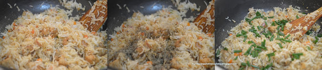 Step 6 How to prepare Chicken Fried Rice