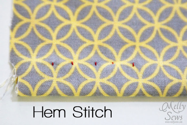 Hand hem stitch