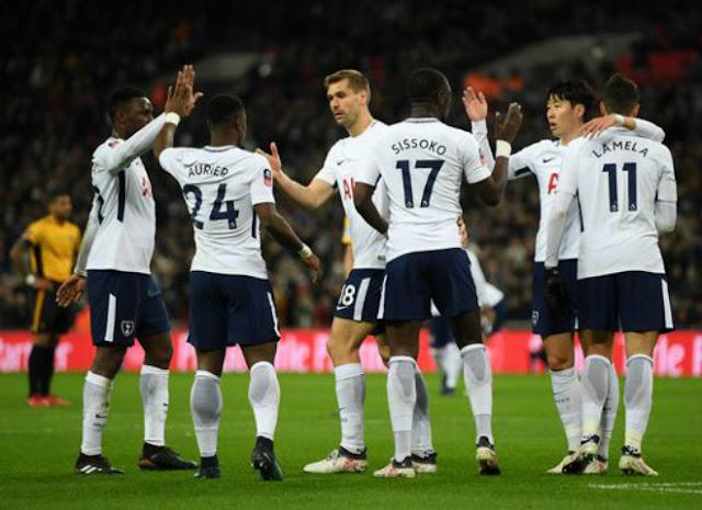 Tottenham mở tỉ số rất may mắn khi đón tiếp Newport County ở sân nhà Wembley