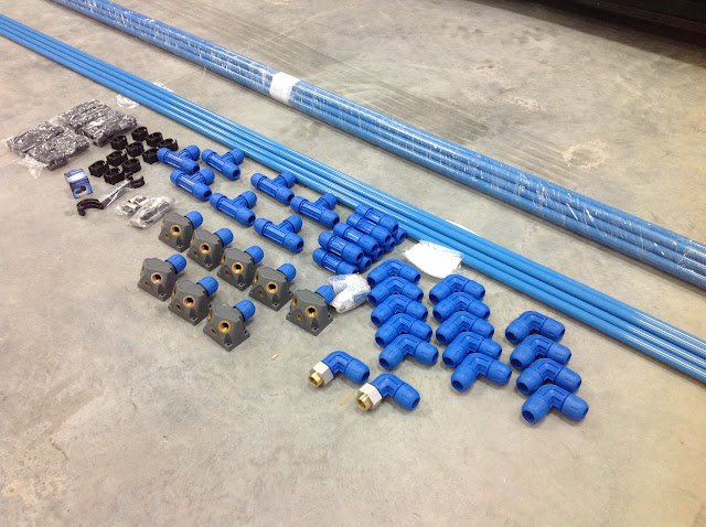 air compressor plumbing aluminum pipe rapid air