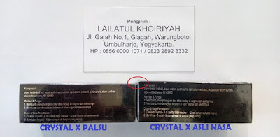 Ciri Crystal X Asli dan Palsu