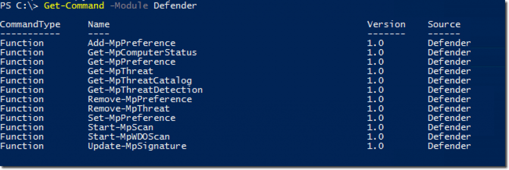 Using the Windows Defender PowerShell cmdlets - WinSysBlog