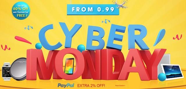 Top 3 Ofertas de GearBest para el Cyber Monday