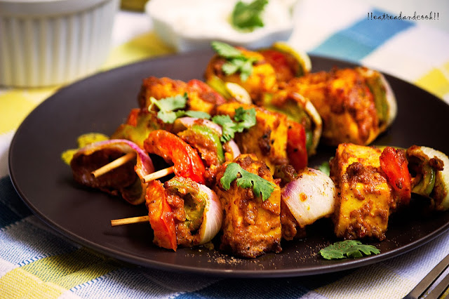 simple and easy indian vegetarian tikka recipe and preparation tandoori paneer tikka recipe and preparation