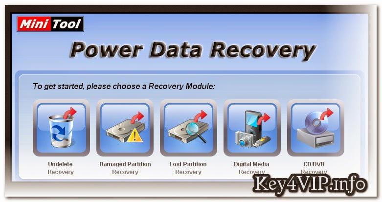 MiniTool Power Data Recovery Boot Disk 6.8 Full Key,Phục hồi dữ liệu do xóa và ghost nhầm phân vùng