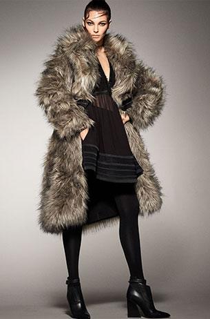 abrigo pelo mujer Zara 2017