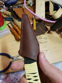 Fourreau en cuir pour couteau japonais