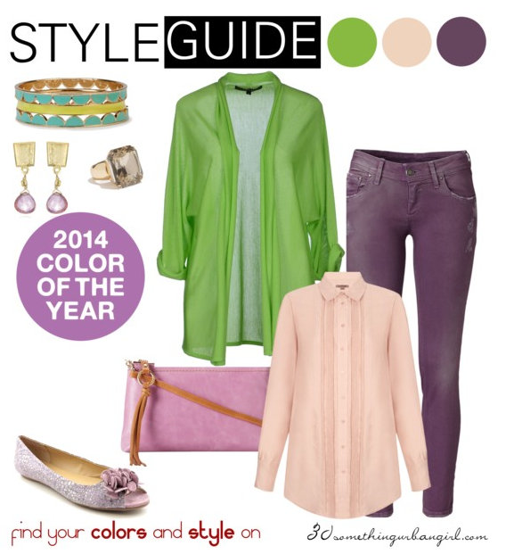 cosy and fresh outfit idea with Radiant Orchid for Warm Spring