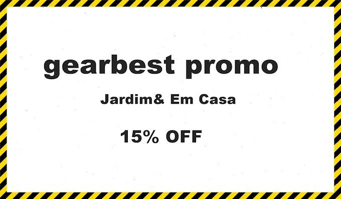 gearbest promo 15% OFF Jardim& Em Casa