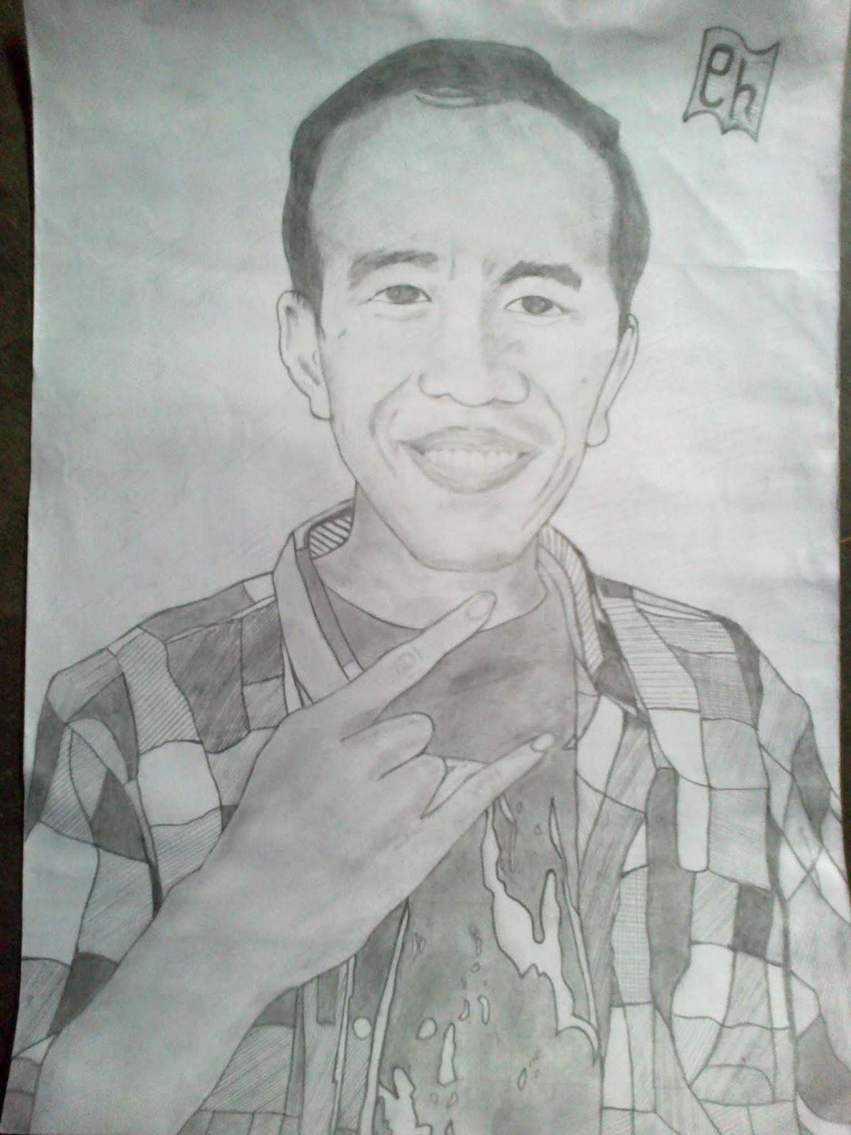 Kumpulan Contoh Sketsa Gambar Presiden Jokowi Informasi