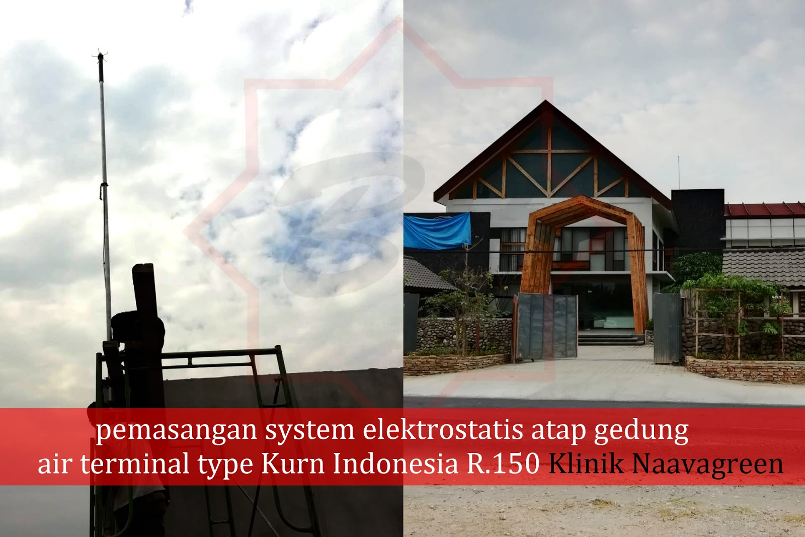Pemasangan Penangkal Petir Type Kurn Indonesia R.150