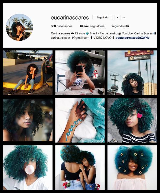 Montagem instagram tumblr girl: Carina Soares