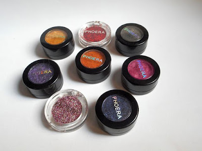 Phoera Glitter Eyeshadow y Ultra Metallic Shadow (Round 2) Review, Swatches, y Looks.