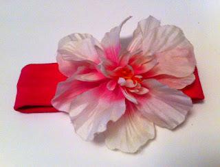 bebek saç bandı, fuşya pembe, çiçekli