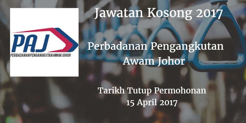 Jawatan Kosong PAJ 15 April 2017