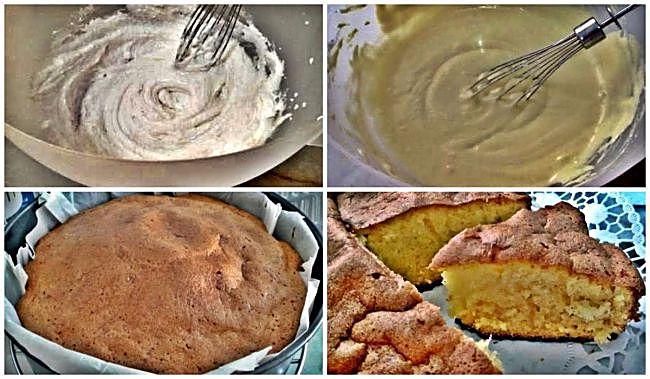 Preparación del bizcocho sin gluten de manteca