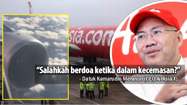 CEO AirAsia Bidas Bekas Menteri Kerana Sindir Pilot Minta Penumpang Berdoa