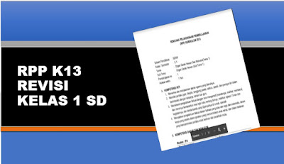 Download RPP K13 Revisi Terbaru Kelas 1 SD