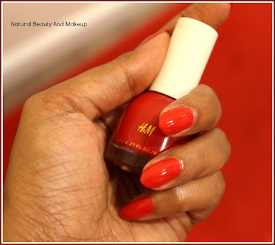 H&M Parisienne Red Nail Polish: REVIEW, NOTD & MORE on Natural Beauty And Makeup Blog